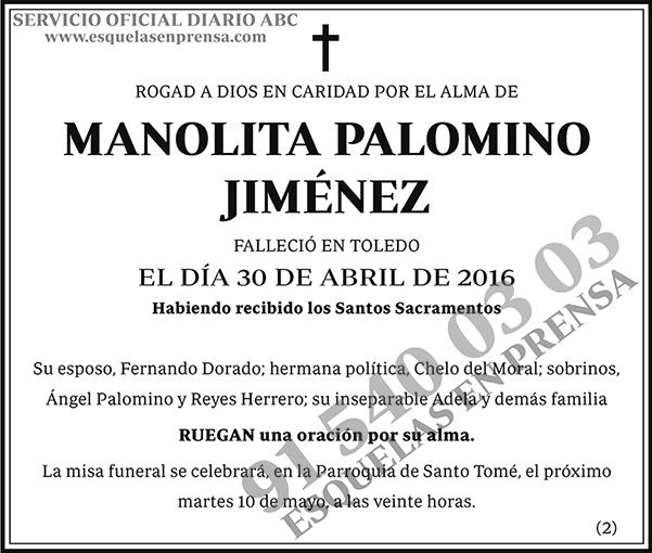 Manolita Palomino Jiménez